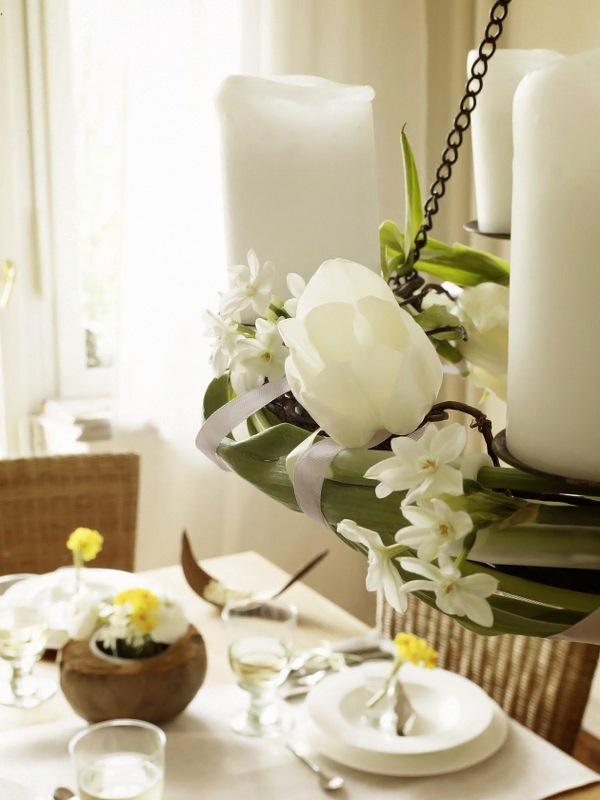 Wohnidee Fruhlingstafel mit Naturfundstucken 8
