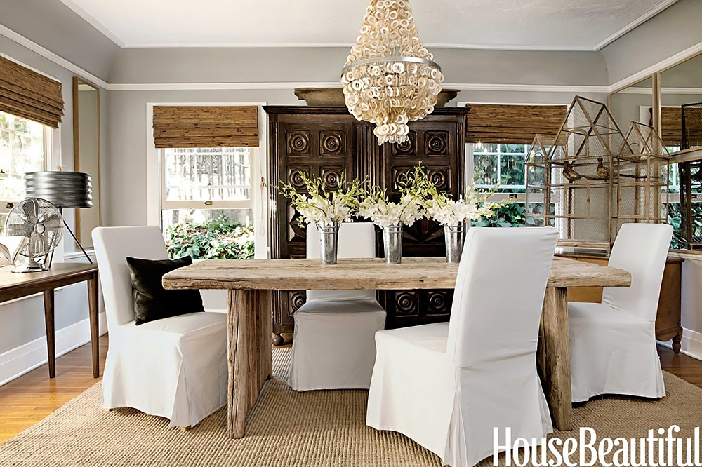 modern country style delicious dining room with a modern. Black Bedroom Furniture Sets. Home Design Ideas