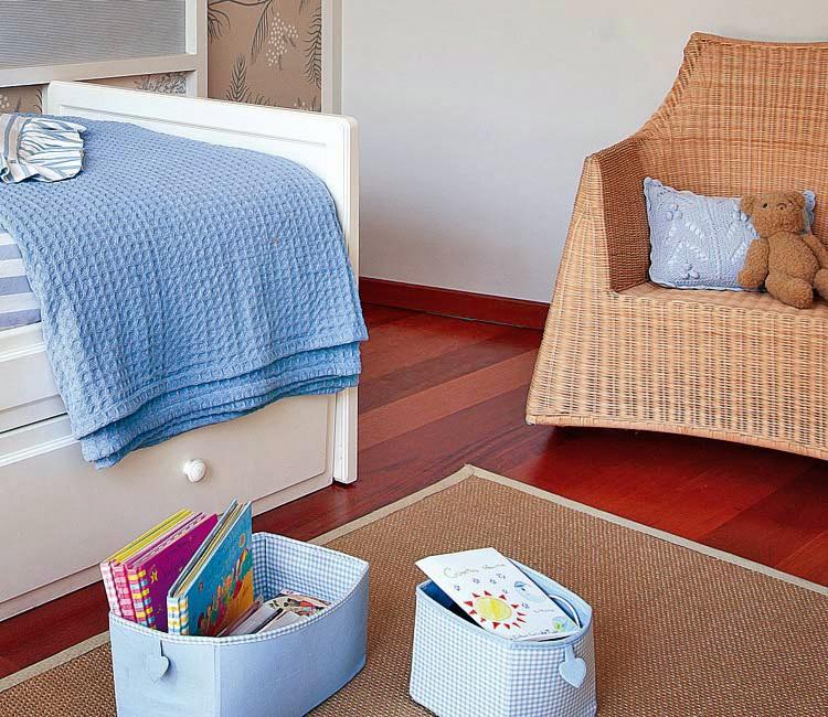MICASA Dormitorio en azul y blanco Todo un clasico 4