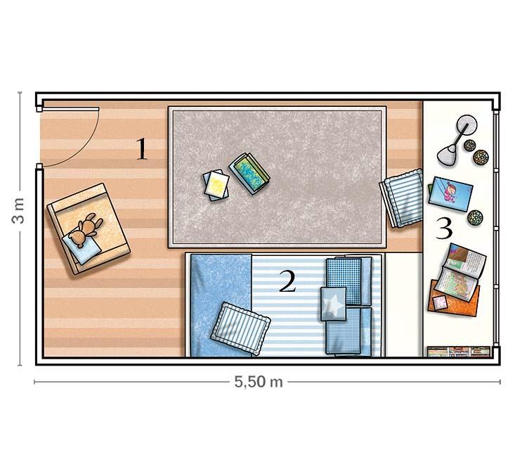 MICASA Dormitorio en azul y blanco Todo un clasico 5