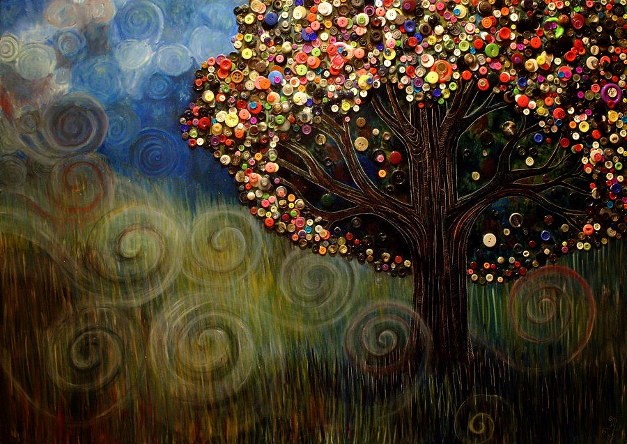 Monica Furlow Button Tree 1
