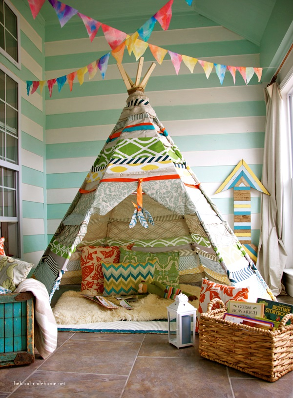 the handmade home no sew teepee 1