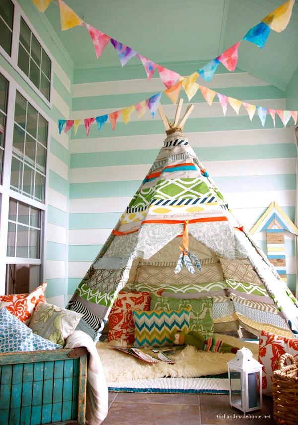 the handmade home no sew teepee 9