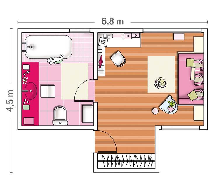 Micasa-Dormitorio-con-bano-en-cor-de-rosa-9