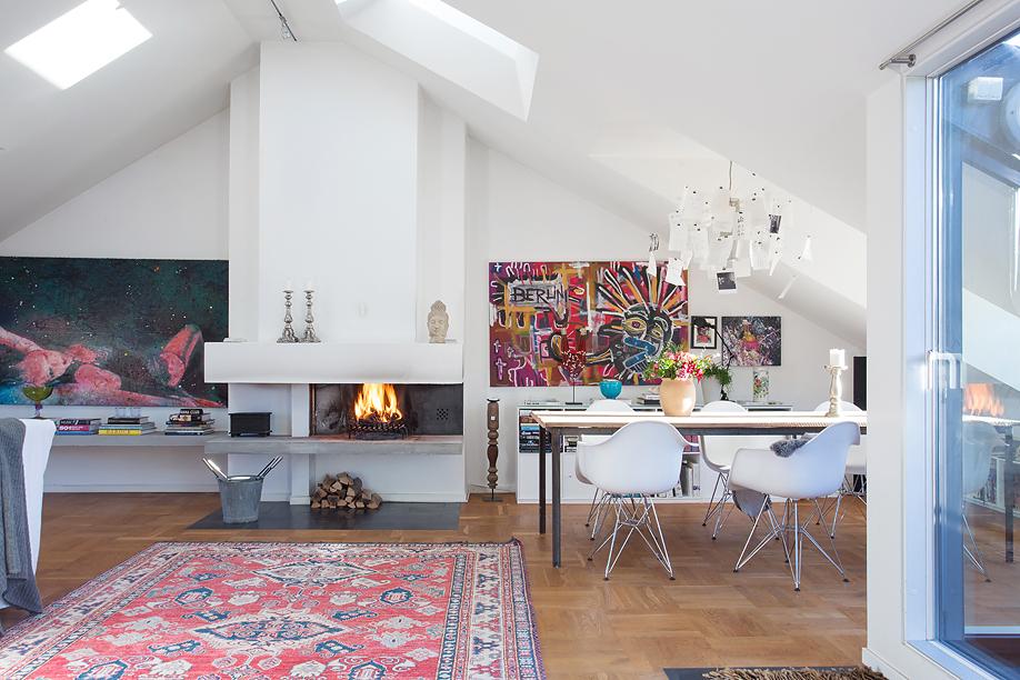Un piso de estilo ecl ctico con un estilismo de 10 - Decoracion de aticos ...