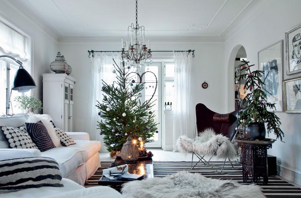 Femina Julebolig Jul med stjerner og julekugler 1