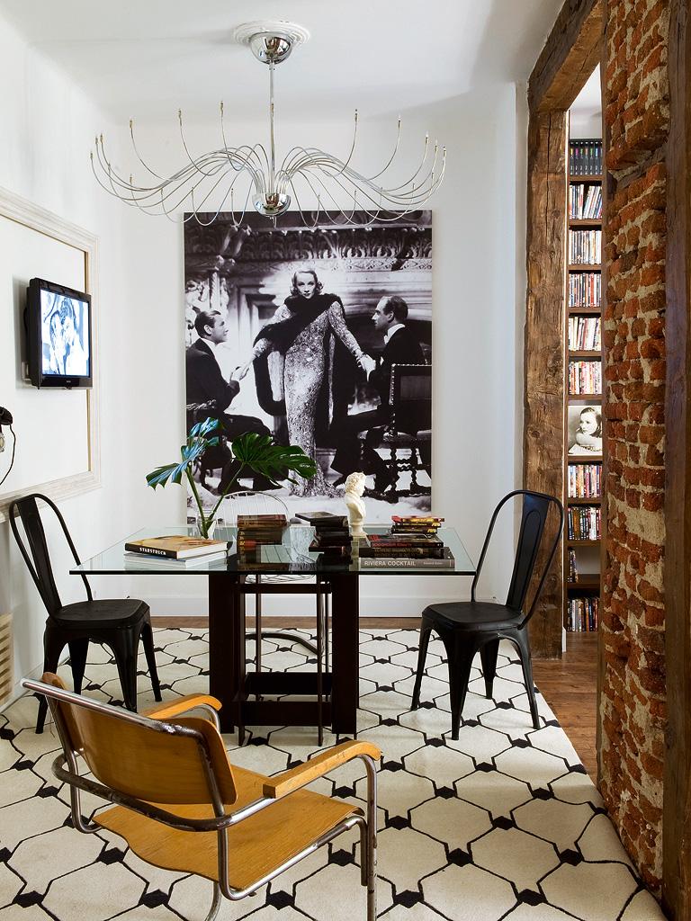 Decordemon william balmori 39 s apartment in madrid - Comedores estilo vintage ...