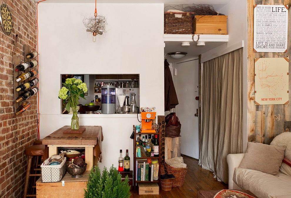 A tiny apartment in Upper East Side, New York