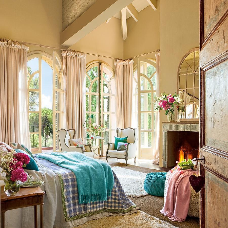 El Mueble dormitorio un aire vintage en azul y rosa 1