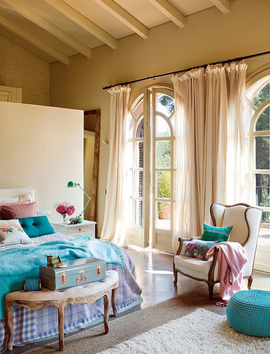 El Mueble dormitorio un aire vintage en azul y rosa 3