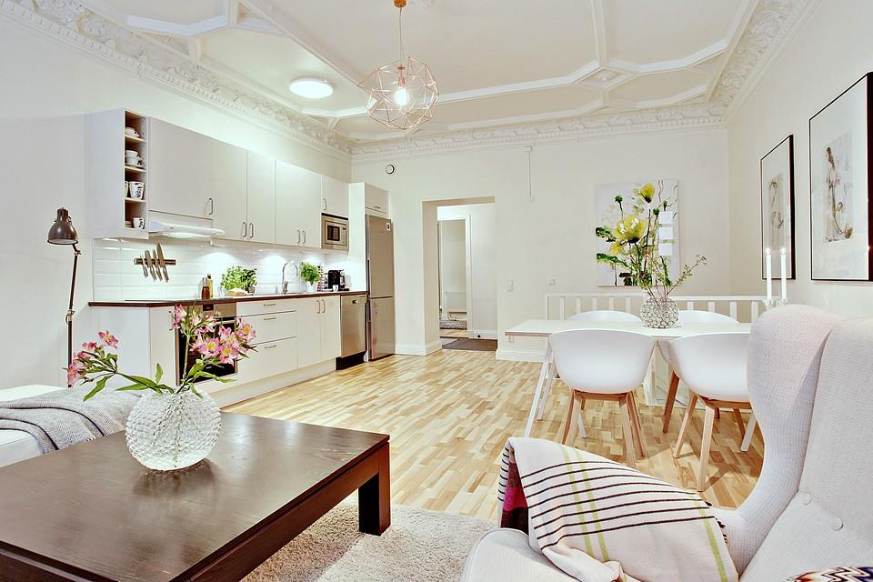 Binnenkijken appartement 90m2 in zweden stijlvol for Decorar piso 80 metros