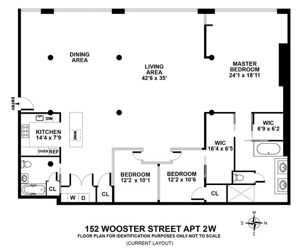 Elliman New York Manhattan Loft  2 Beds  2 Baths plan