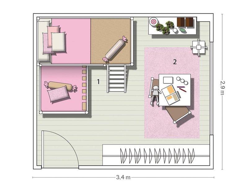Micasa Un Dormitorio plan
