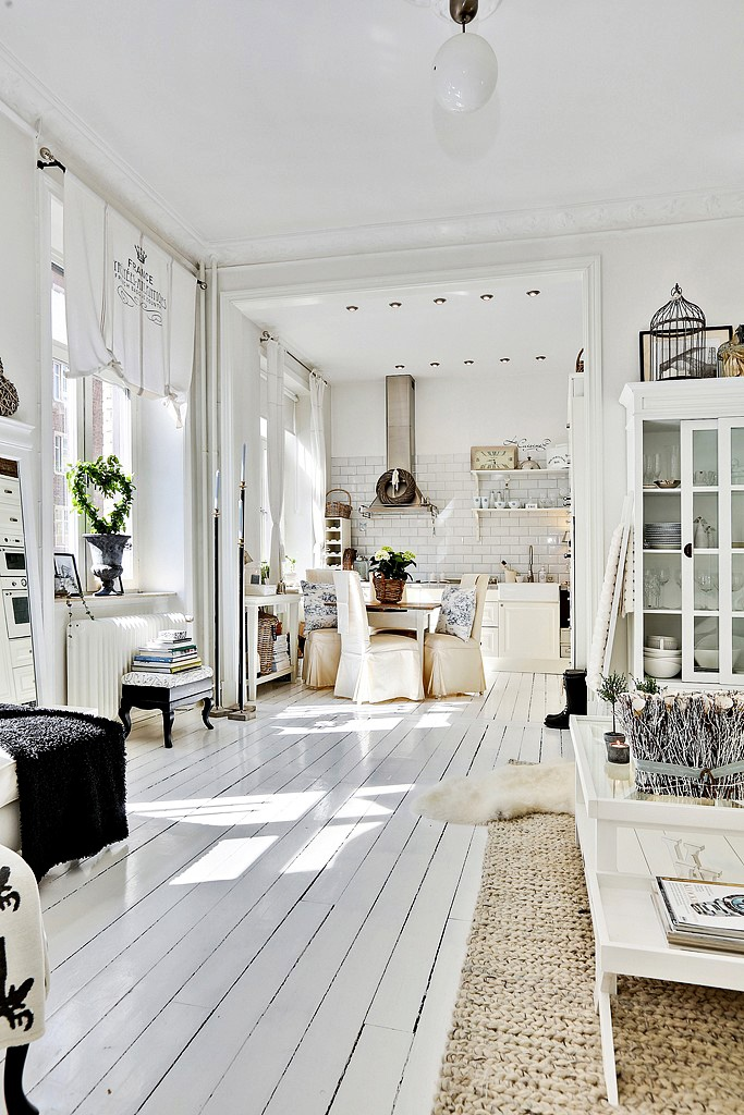 60 Scandinavian Interior Design Ideas To Add Scandinavian: Decordemon: Shabby Chic Atmosphere For A Swedish Apartment