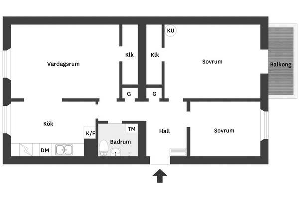 Bjurfors 3 rum 83 kvm plan