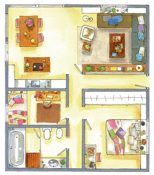 El Mueble 90m2 plan