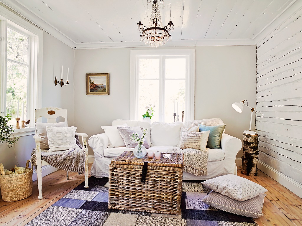 Decordemon a lovely traditional swedish cottage - Decoracion nordica salon ...