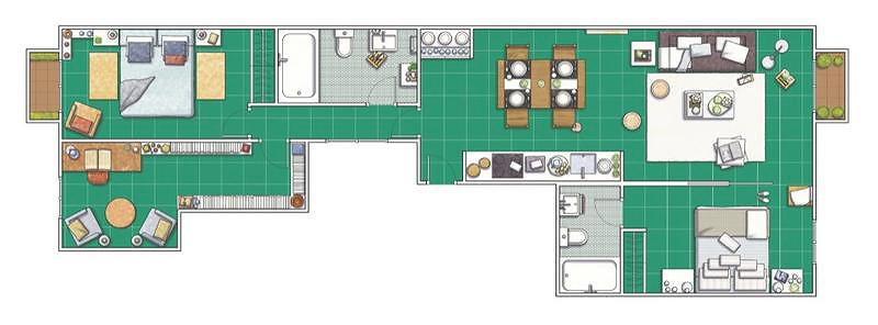 CASADIEZ-apartamento--barcelona-55-metros-plan
