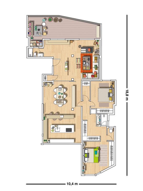 Micasa Un apartamento con decoración industrial plan