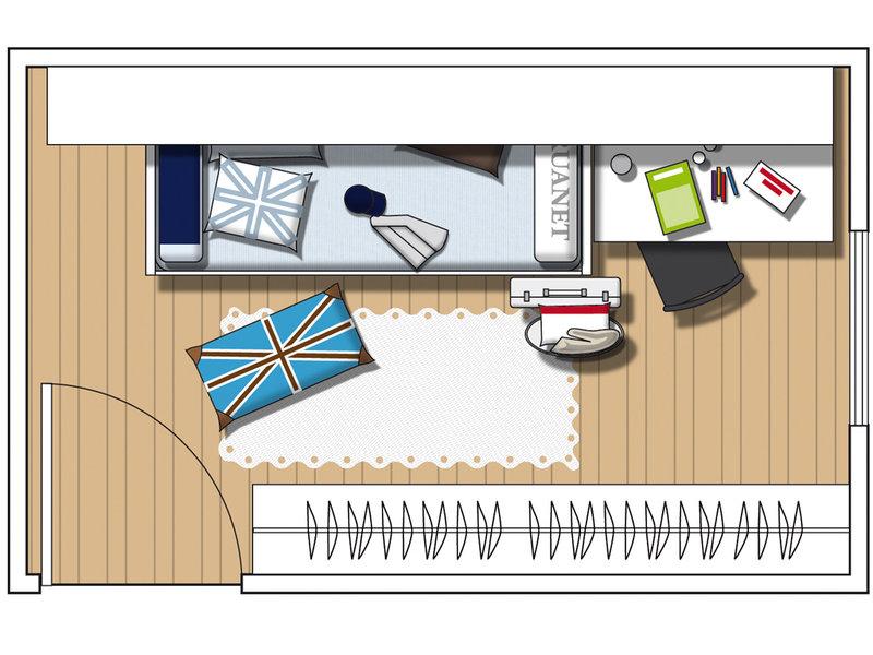 MICASA Un dormitorio urbanita y aventurero plan