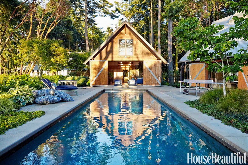 House Beautiful A Modern House That's Warm and Rustic 7
