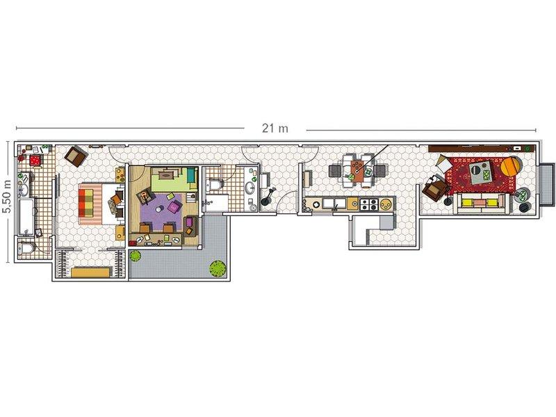 MICASA Un piso familiar y eclectico plan