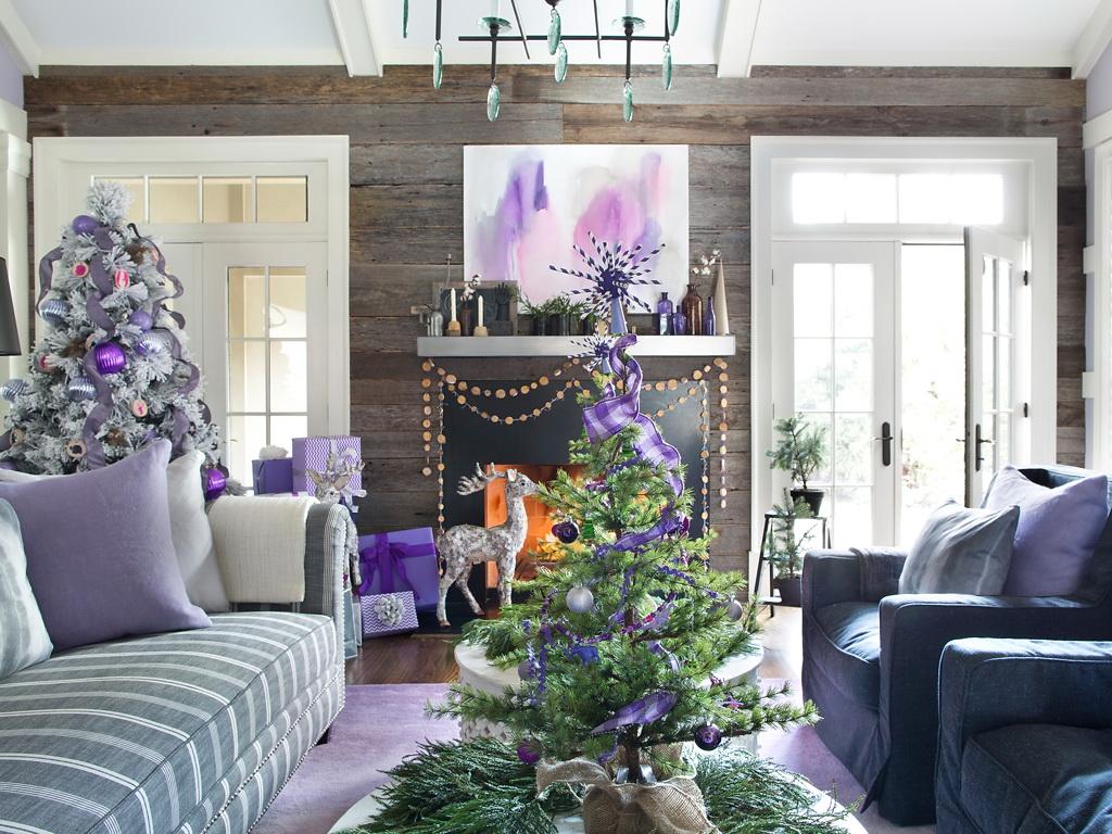 HGTV Modern Holiday Color Palette Lavender Grey Violet 1