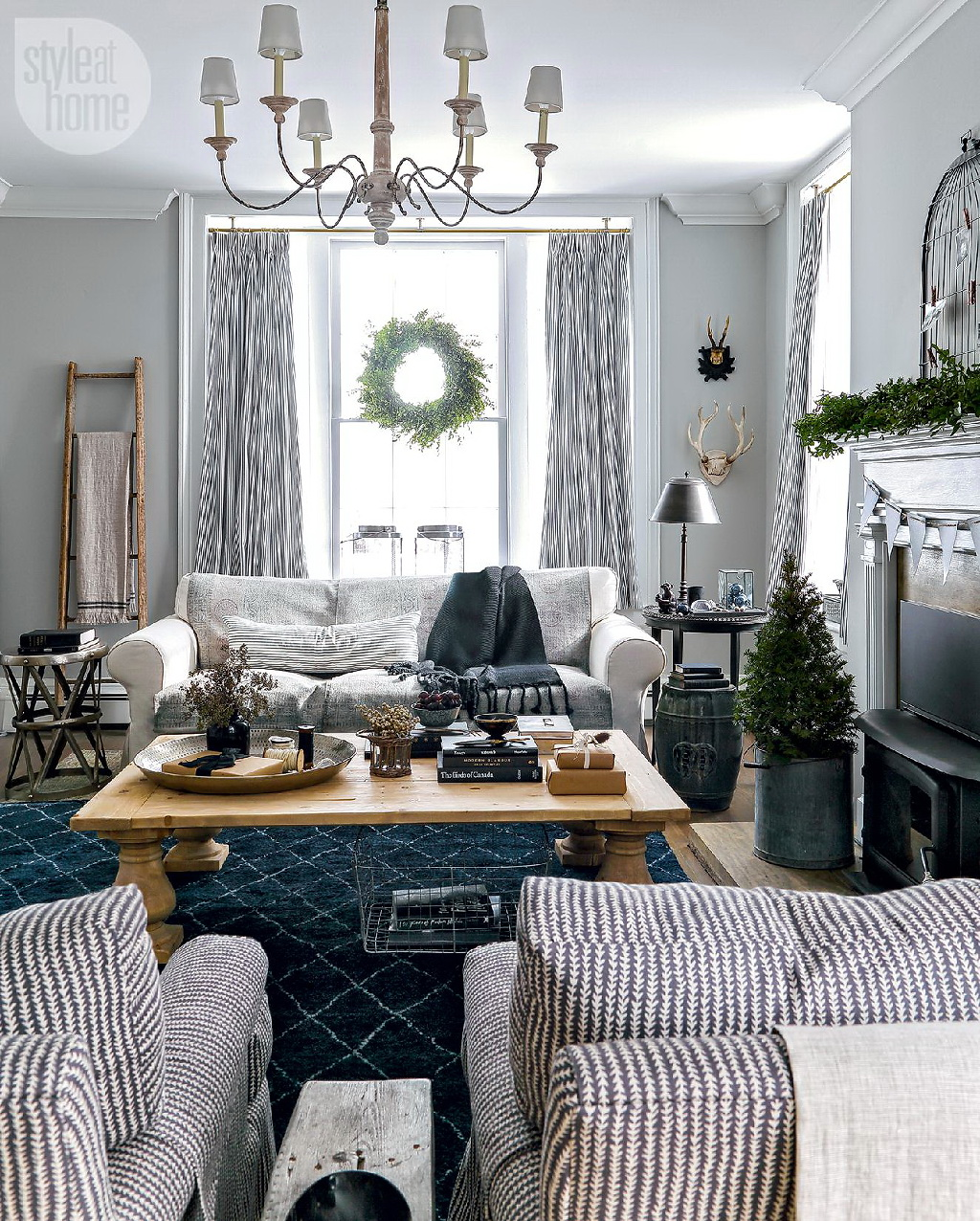 Style At Home Rustic Nordic holiday style 1