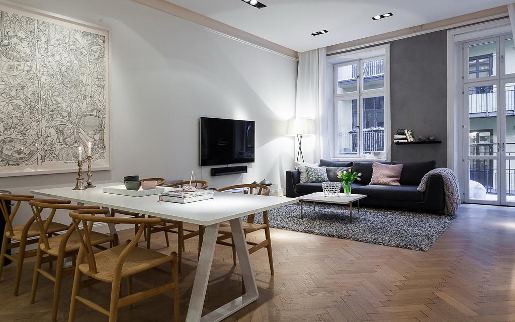 Binnenkijken scandinavische stijl ingericht appartement stijlvol styling woonblogstijlvol - Inspiratie salon moderne ...