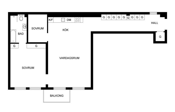 3room 86m2 plan