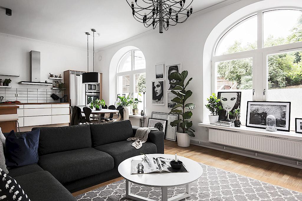 81 nicety - Salones con sofa negro ...