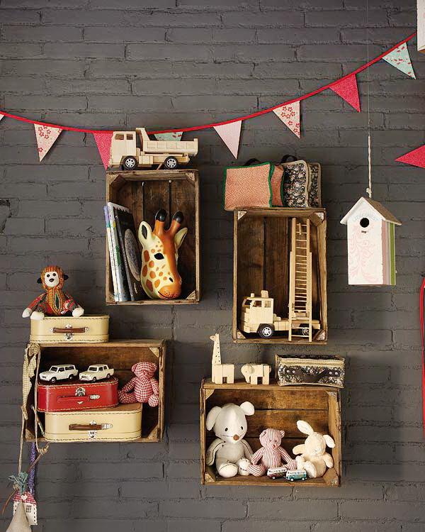 10 ideas para convertir una caja de madera en una genial for Manualidades con cajones de madera