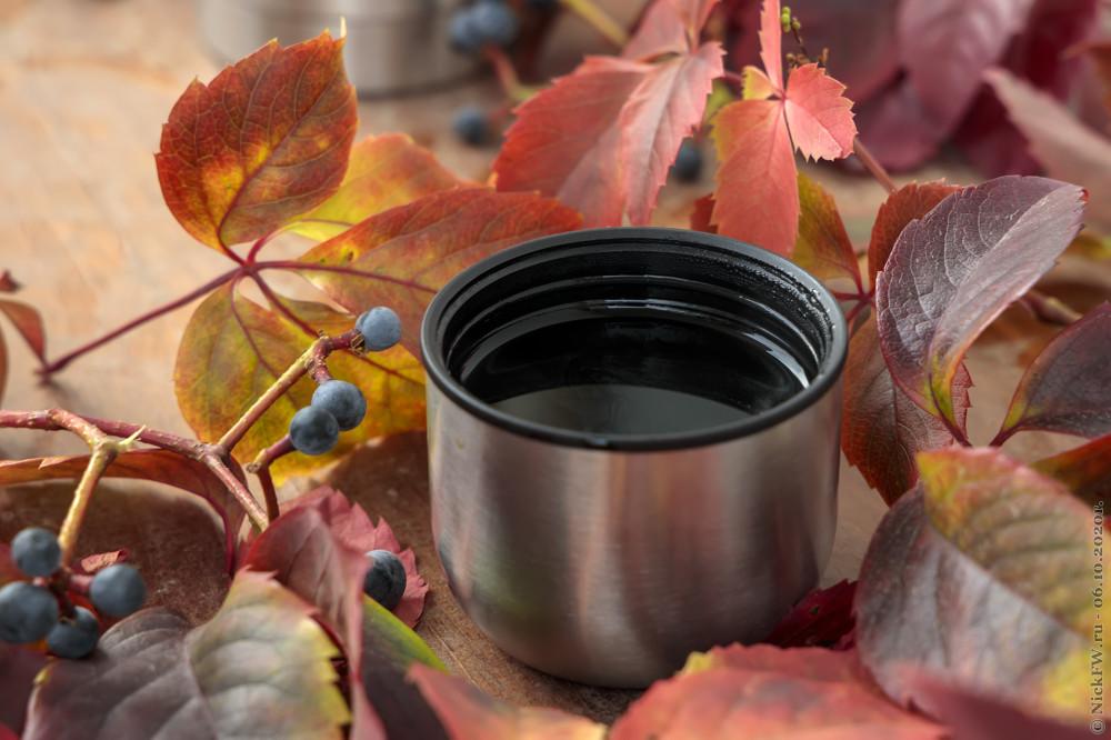 "2. Натюрморт ""Кофе и девичий виноград"" © NickFW.ru - 25.10.2020г."