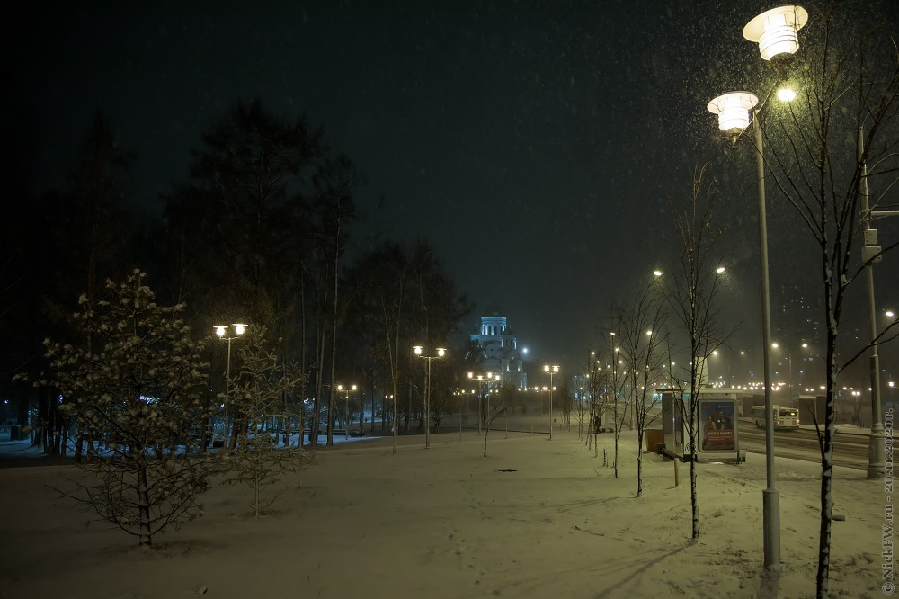 Снегопад в Солнцево © NickFW.ru - 20.11.2020г.