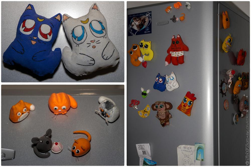 2. Котики (и не только) на холодильнике © NickFW.ru - 24.12.2020г.