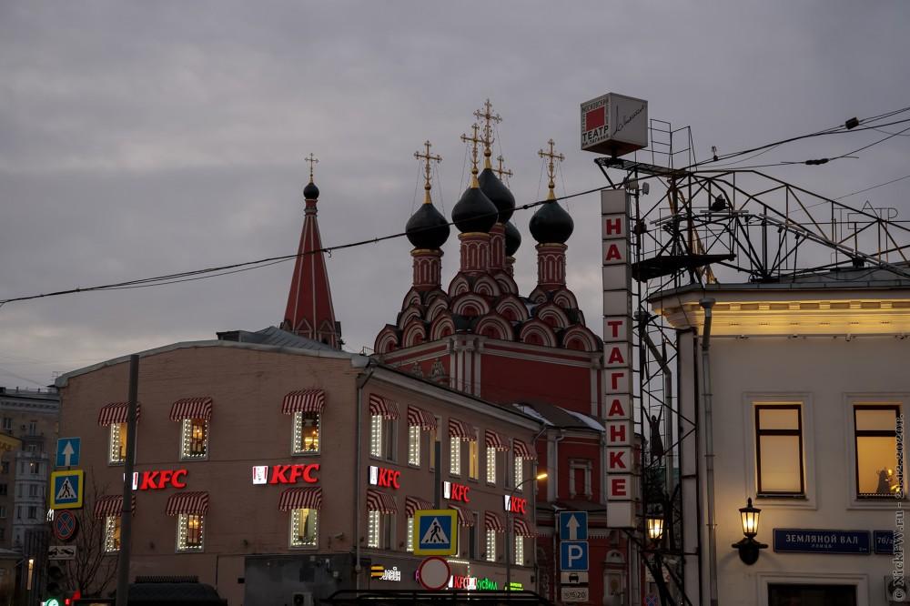 """5. Храм, Куриная Едальня и театр """"на Таганке"""" © NickFW.ru - 21.12.2020г."""