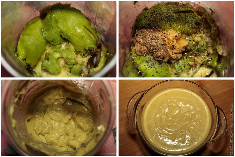 7. Мой спонтанный оливье - соус из майонеза, авокадо и горчицы © NickFW.ru - 02.01.2021г.
