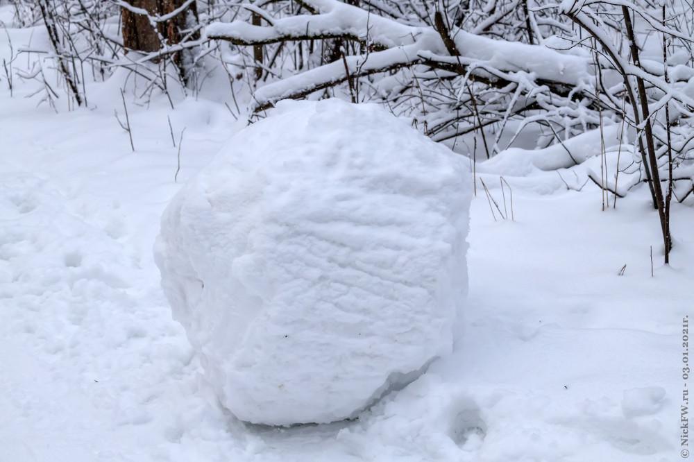4. Нижняя часть снеговика © NickFW.ru - 03.01.2021г.