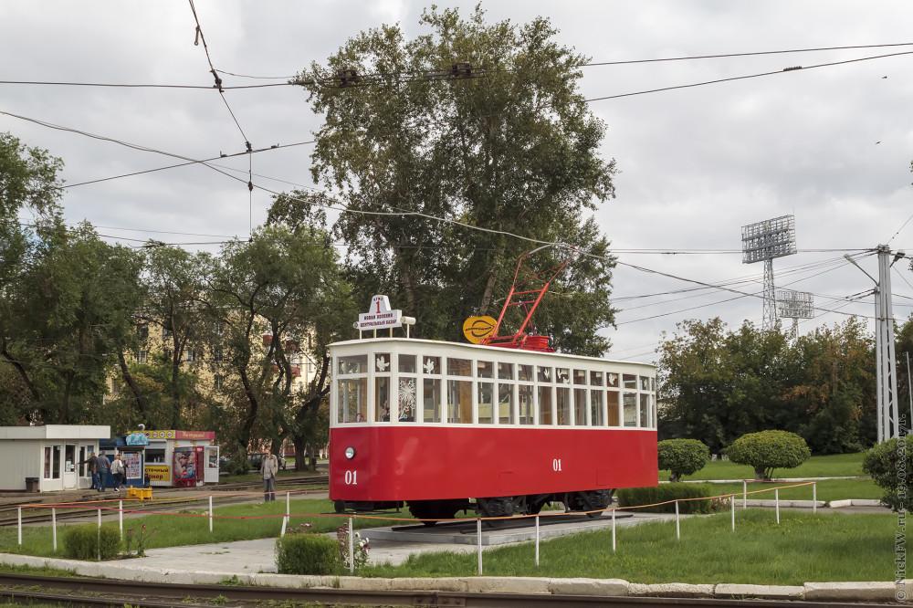Трамвай памятник - Кемерово - ©NickFW.ru - 19.08.2017г.