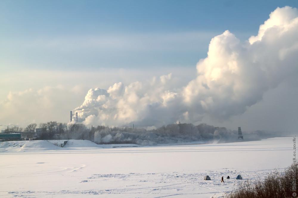 1. Томь, дым, пар, пингвины © NickFW.ru - 18.01.2018г.