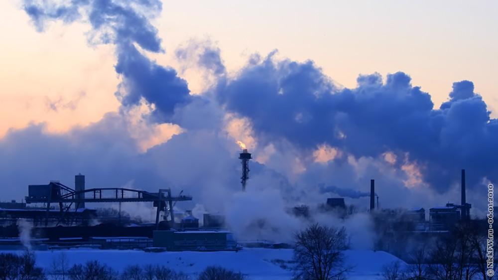 3. Промзона, пар, дым, огонь и закат © NickFW.ru — 06.01.2010г.