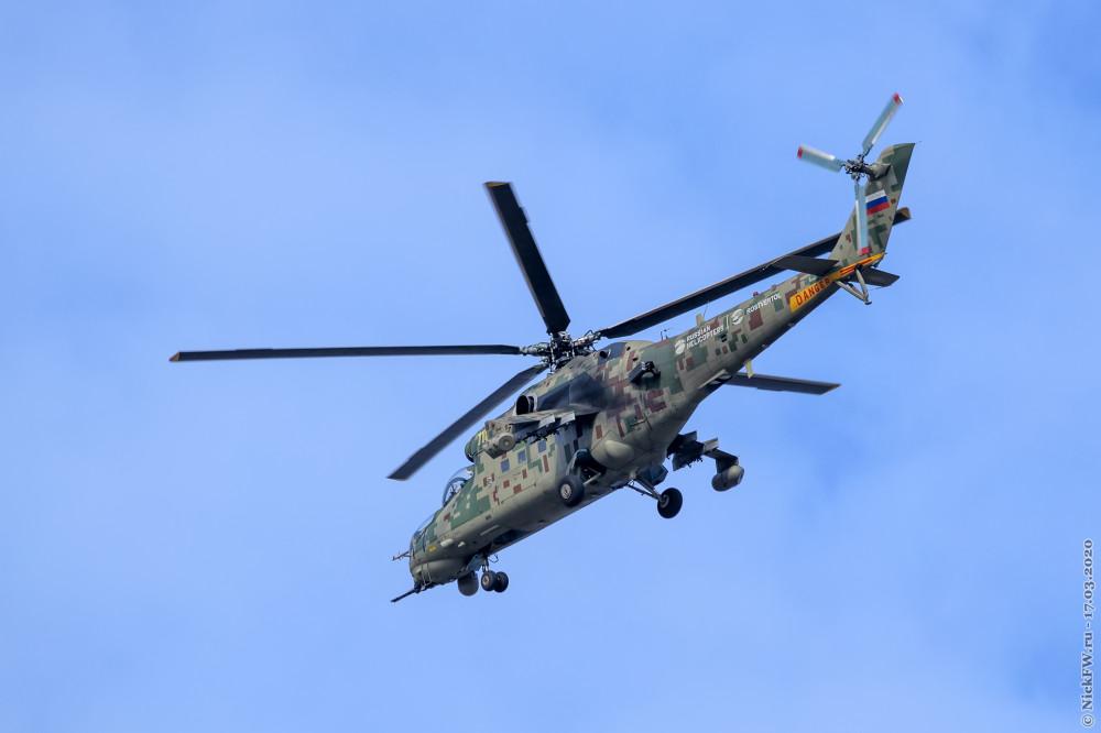 1. Ми-24 в небе над Люберцами © NickFW.ru — 17.03.2020г.