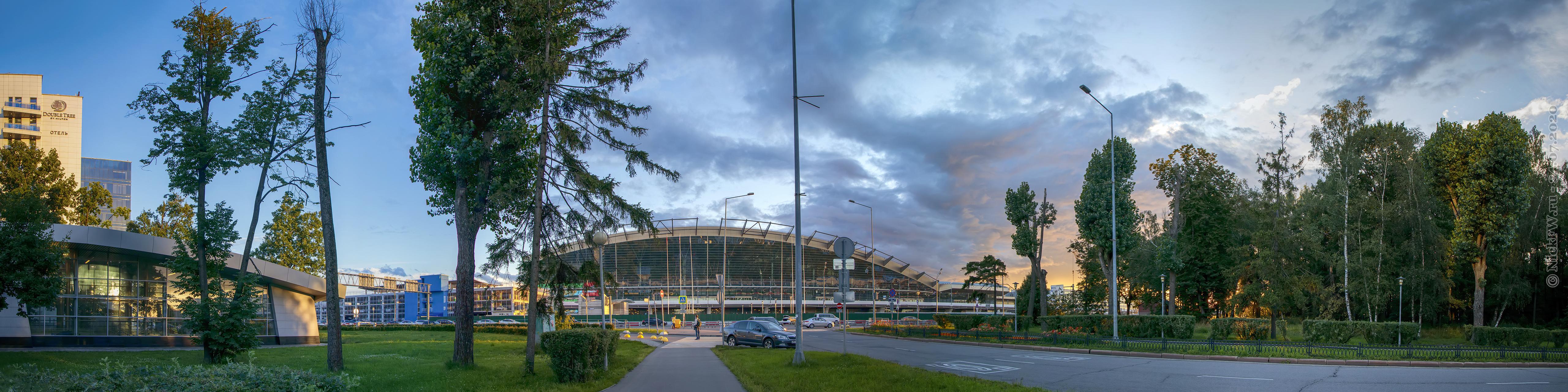 9. HDR Панорама из 6 кадров — вид на аэропорт Внуково © NickFW.ru — 1000 px в ширину