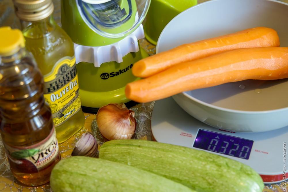 2. Салат из свежих кабачков и моркови — Ингредиенты © NickFW.ru — 11.04.2021г.