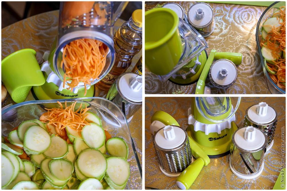 3. Салат из свежих кабачков и моркови — Тёрка-овощерезка © NickFW.ru — 11.04.2021г.