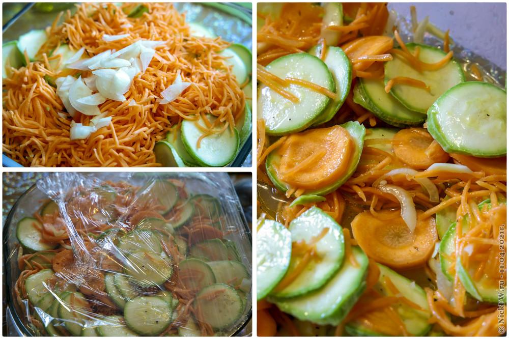 5. Салат из свежих кабачков и моркови © NickFW.ru — 11.04.2021г.