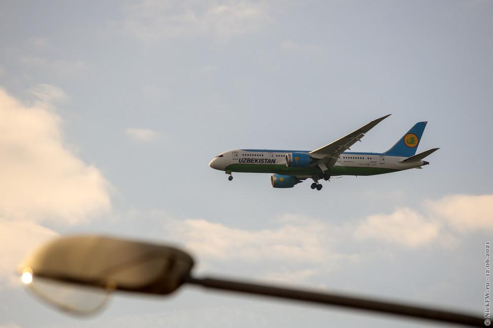 2. DreamLiner из Узбекистана - Boeing 787-8, Бортовой №: UK-78701 © NickFW.ru — 12.06.2021г.