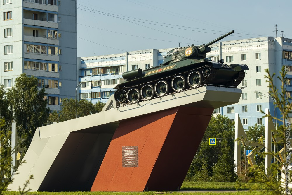 5. Т-34-76 в Кемерово © NickFW.ru — 05.07.2021г.
