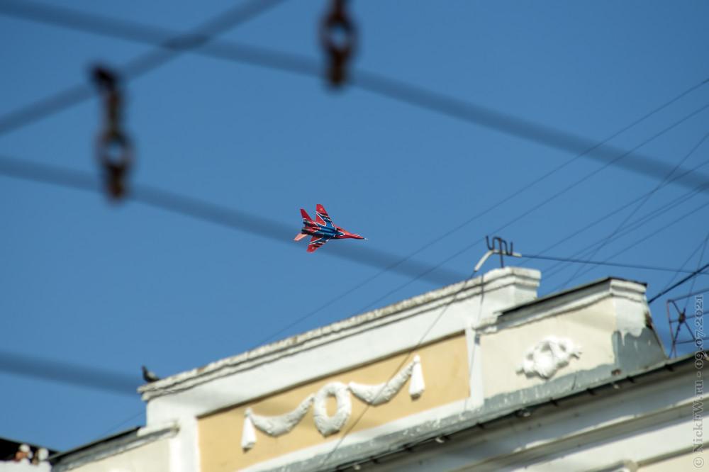 """МИГ-29 Пилотажной группы """"Стрижи"""" © NickFW.ru — 09.07.2021г."""