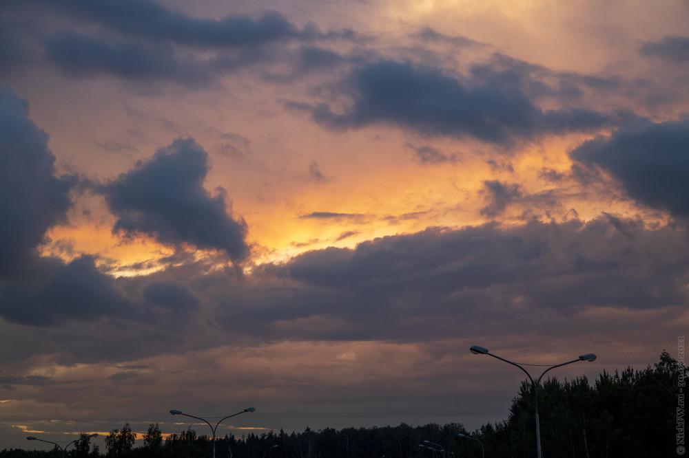 1. Закат в Московском © NickFW.ru — 30.07.2021г.